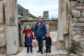 In the middle of Ancient Ephesus