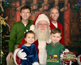 Merry Christmas from the Caylor-Browns: Ammon, Carter, Sean, and Haven
