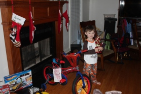 Santa was good to Carter!