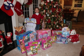 Ammon's Nana Claus haul!