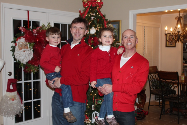 Sean, Carter, Ammon, & Haven at the end of a Great Christmas 2012