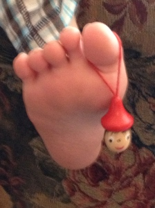Decapitated & denosed Pinocchio Toe Puppet