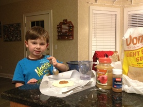 Carter creates his Apple Pies