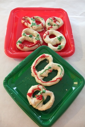 Yep, Guided by their Daddy H, Ammon & Carter make homemade holiday pretzels!
