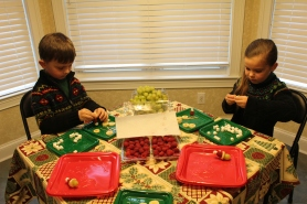"""Carter and Ammon were literally """"transfixed"""" to their task. They loved it!"""