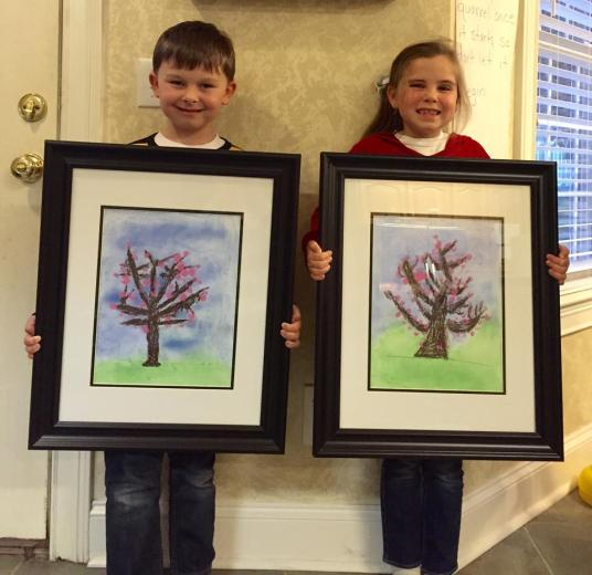 Carter & Ammon's Spring Pastel Painting